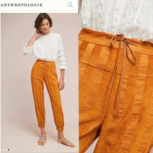 The ODELLS Anthropologie Sonia Jogger in Rust